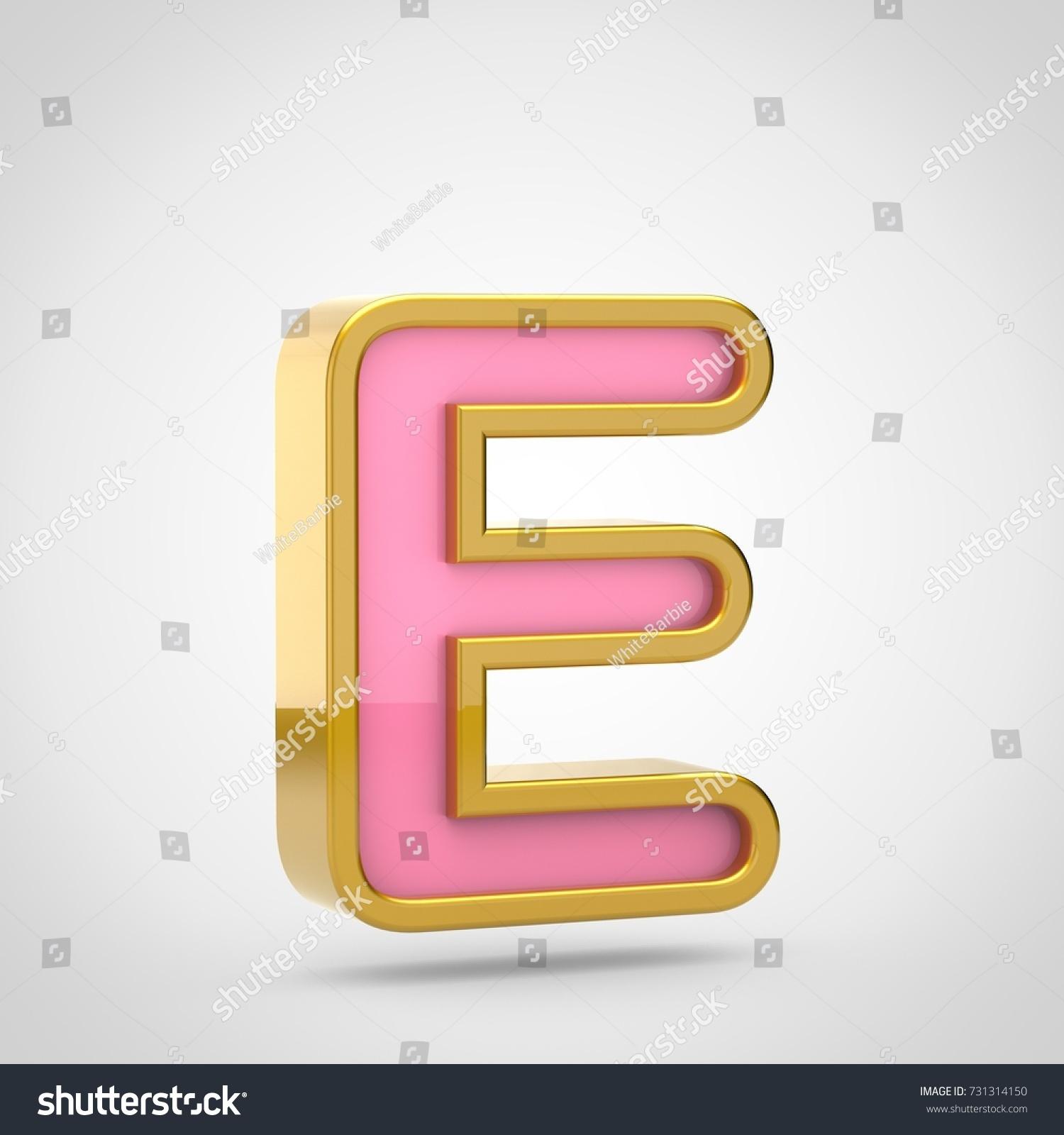 Vector colorful curvy liquid 3d volumetric letter e on black Bubble ...