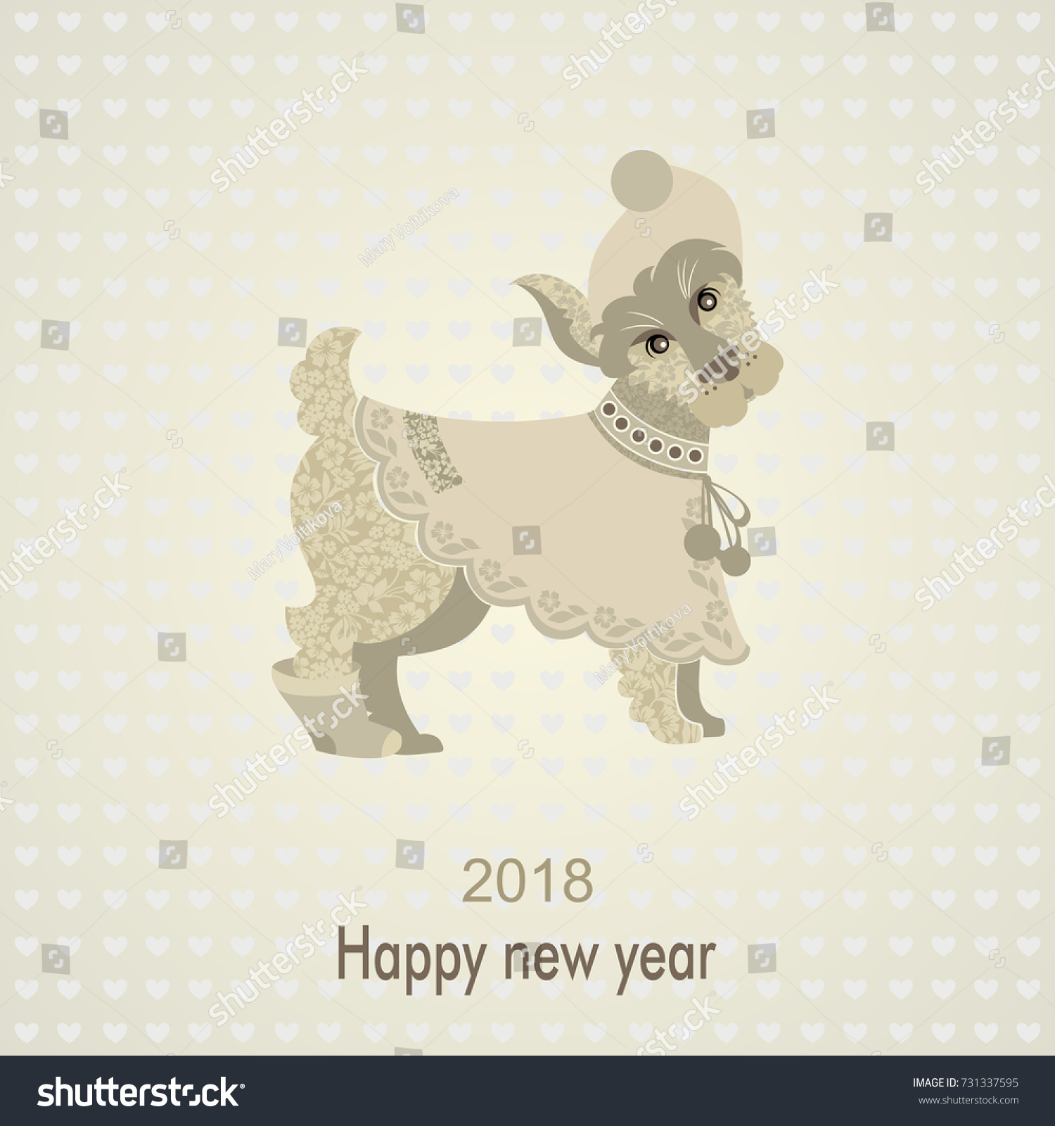 dog is the symbol of the chinese new year 2018 vintage greeting postcard