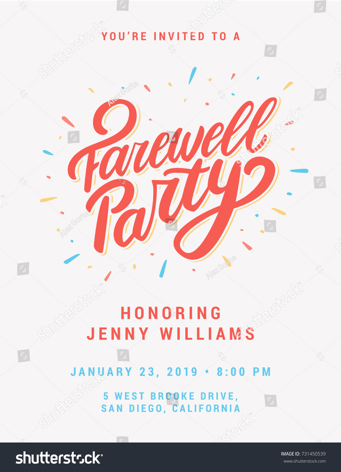 Farewell Party Invitation Stock Vector 731450539 - Shutterstock