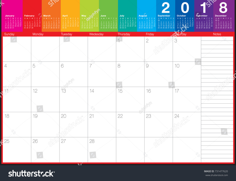 February Calendar Illustration : February calendar planner vector illustration stock