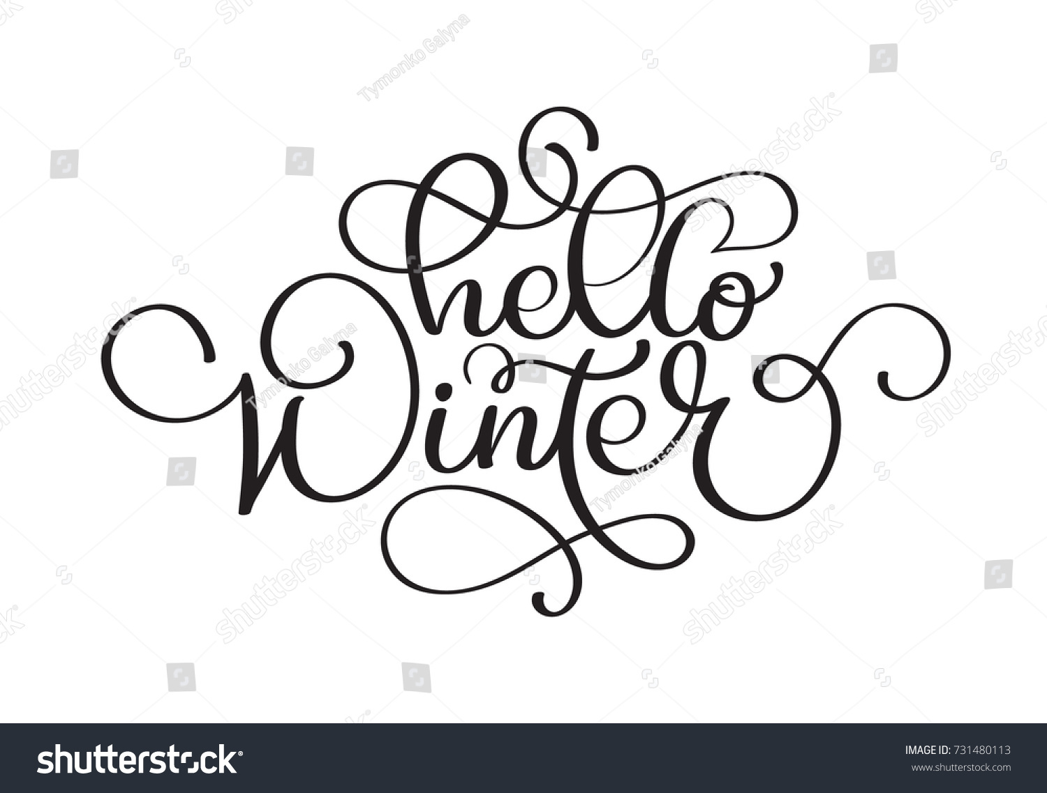 Hello winter handlettering inscription christmas winter logos and id 731480113 m4hsunfo