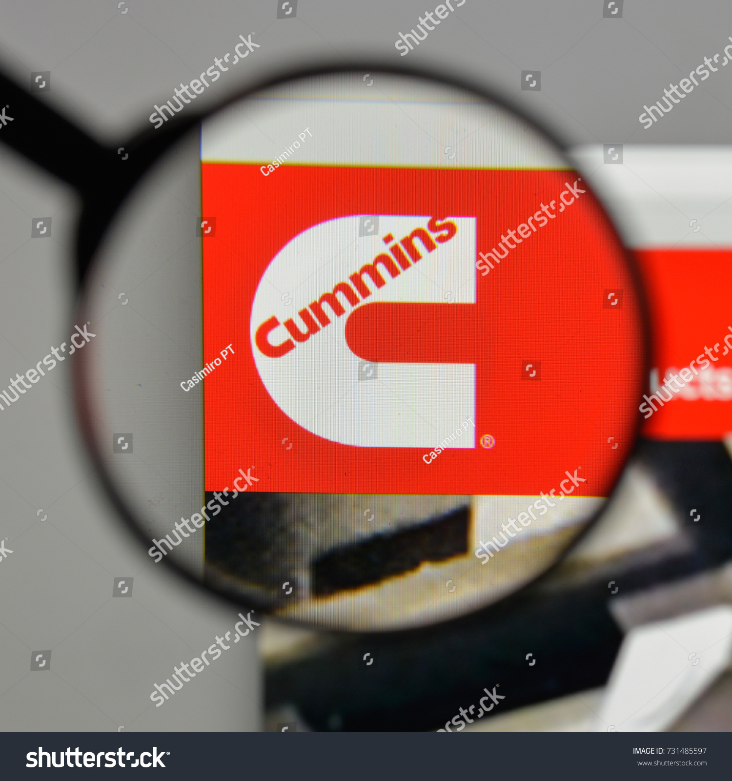 Milan italy august 10 2017 cummins stock photo 731485597 shutterstock milan italy august 10 2017 cummins logo on the website homepage biocorpaavc Images