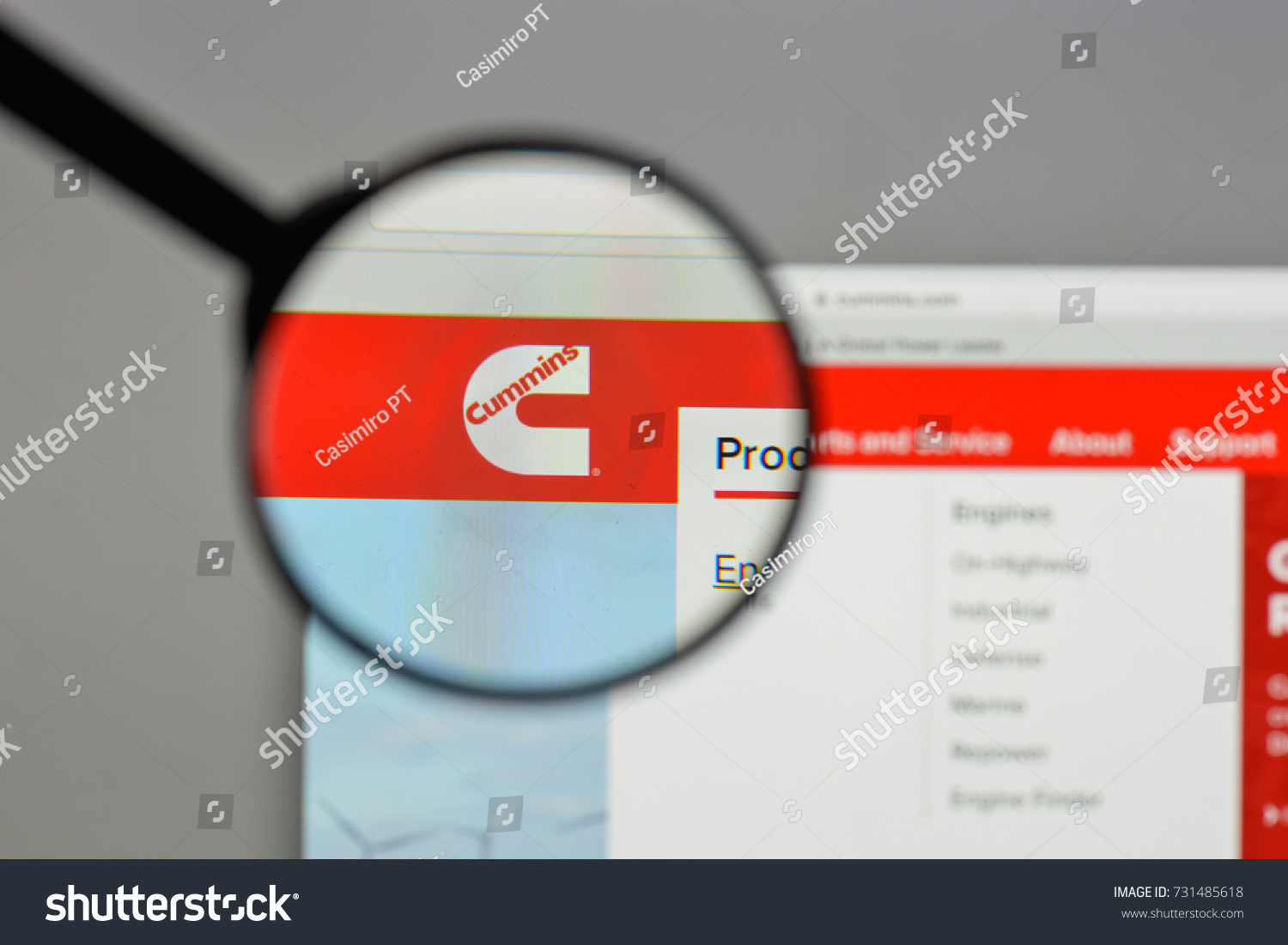 Milan italy august 10 2017 cummins stock photo 731485618 shutterstock milan italy august 10 2017 cummins logo on the website homepage biocorpaavc Images