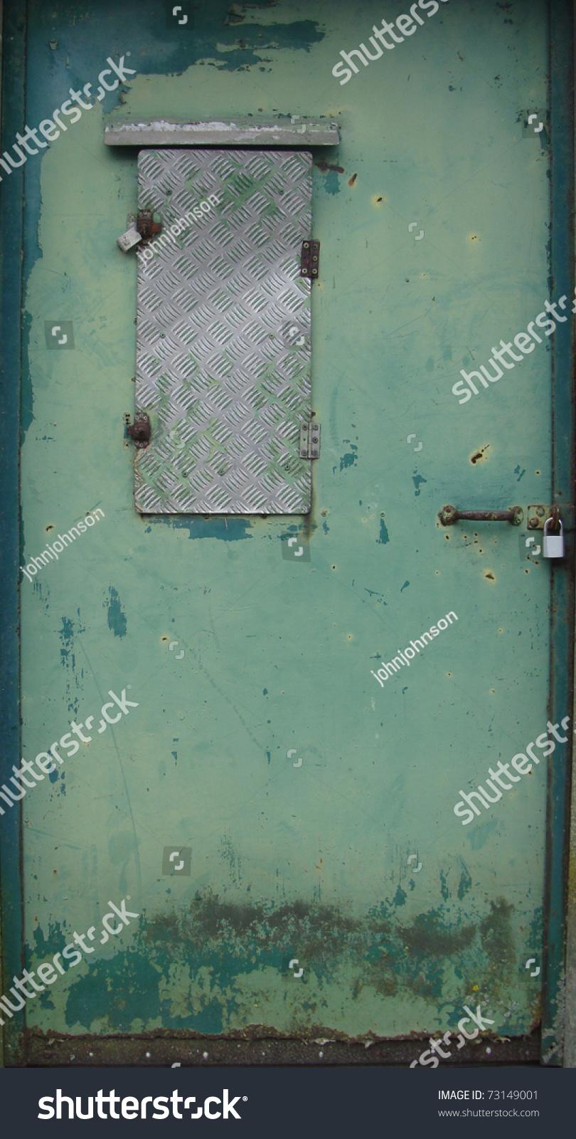 Rusty Metal Door old worn green rusty metal door stock photo 73149001 - shutterstock