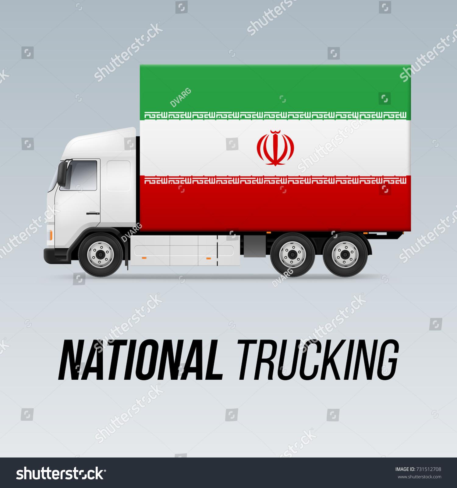 Symbol national delivery truck flag iran stock vector 731512708 symbol of national delivery truck with flag of iran national trucking icon and iranian flag buycottarizona Choice Image