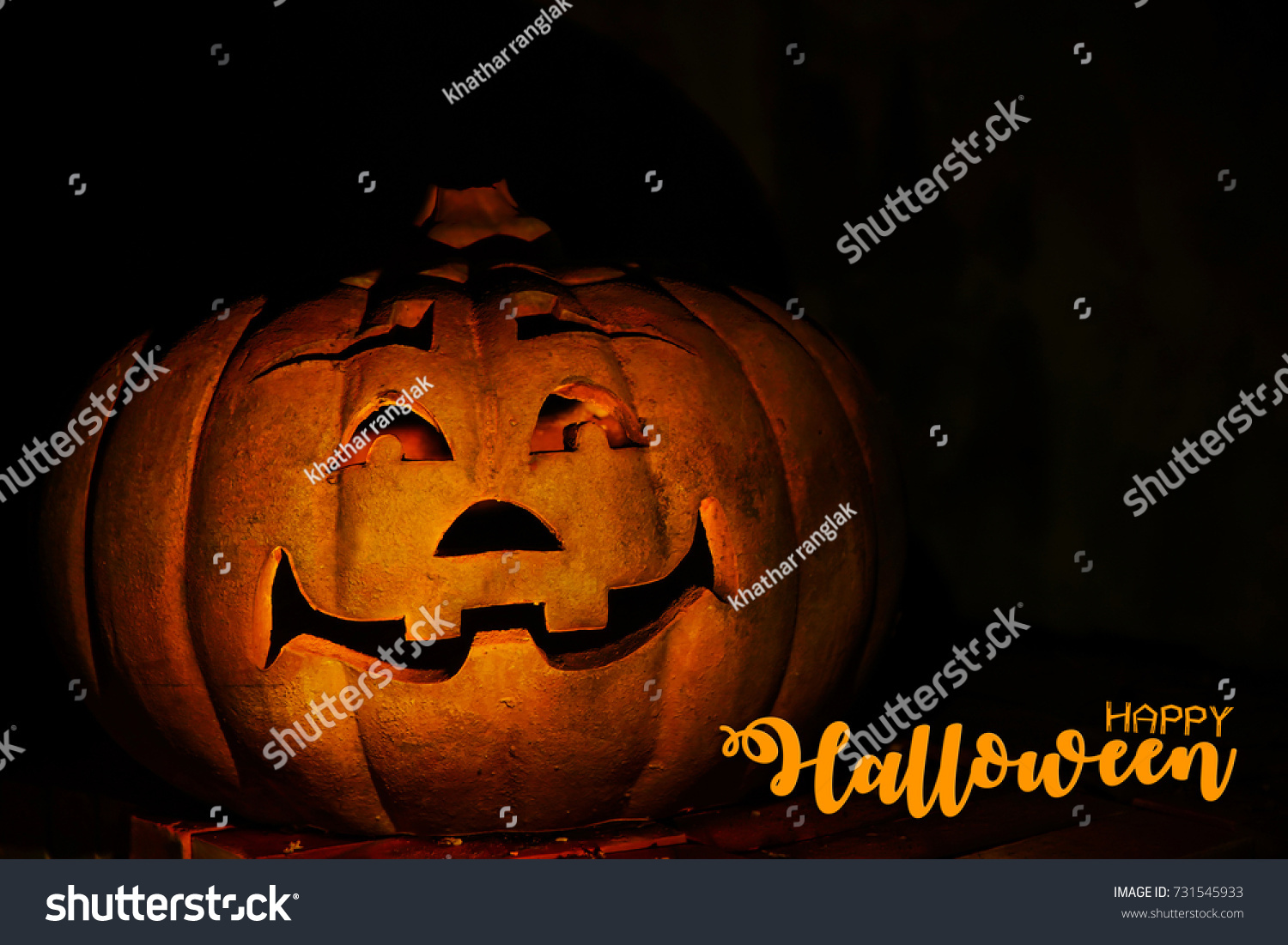 Happy Halloween Scary Night Backgrounds Pumpkin Stock Photo ...