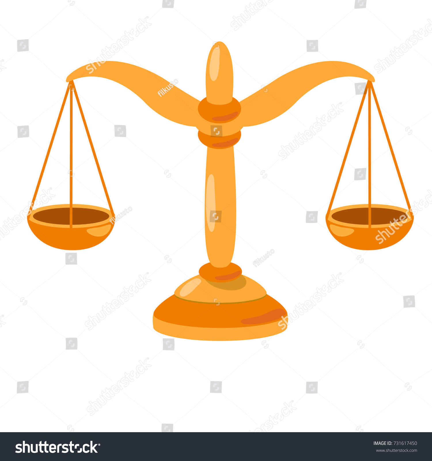 Scales Justice Symbol Law Court Vector Stock Vector 731617450
