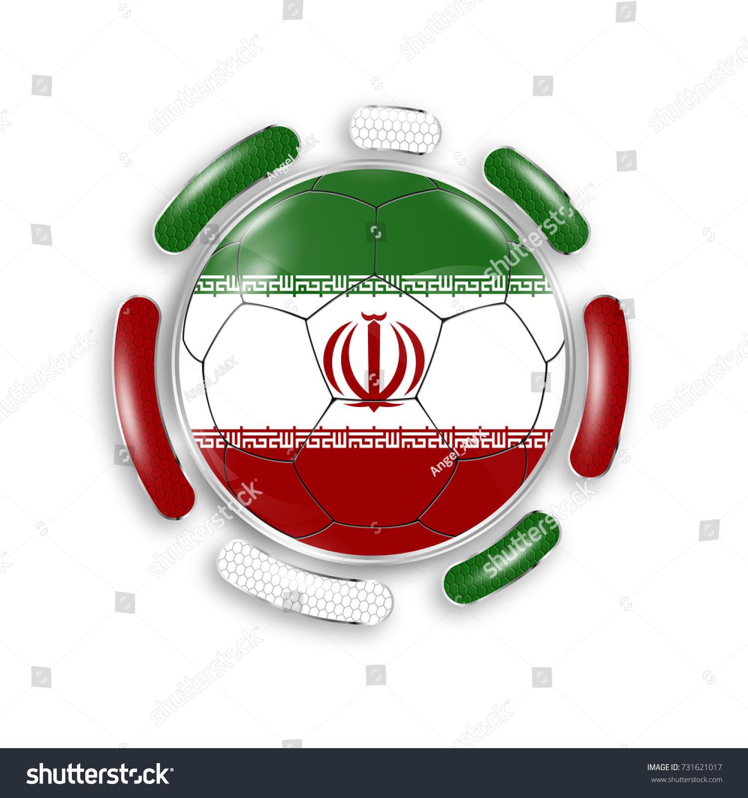 Soccer ball national flag iran modern stock vector 731621017 soccer ball with the national flag of iran modern emblem of soccer team realistic buycottarizona Choice Image