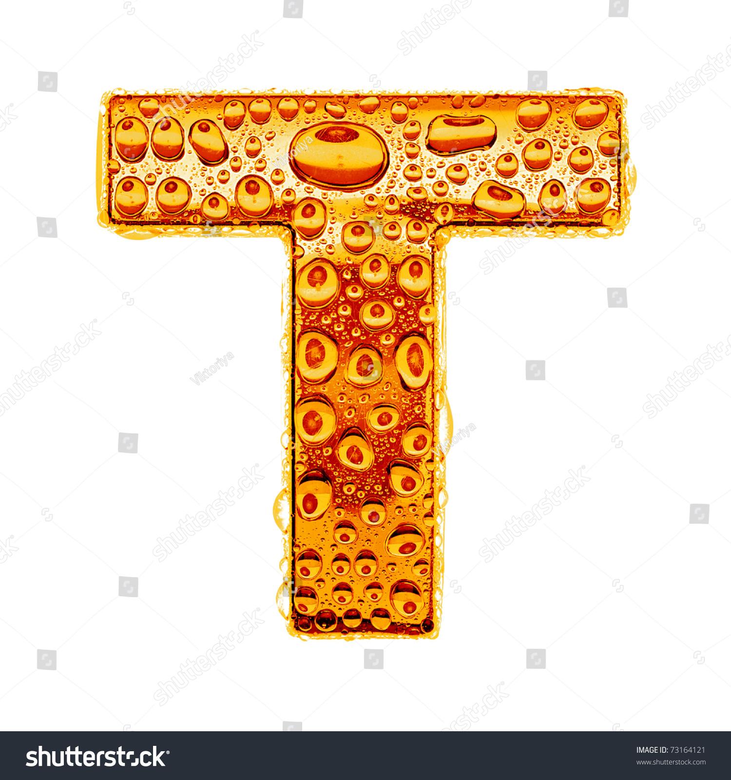 Orange Gold Alphabet Symbol Letter T Stock Illustration 73164121