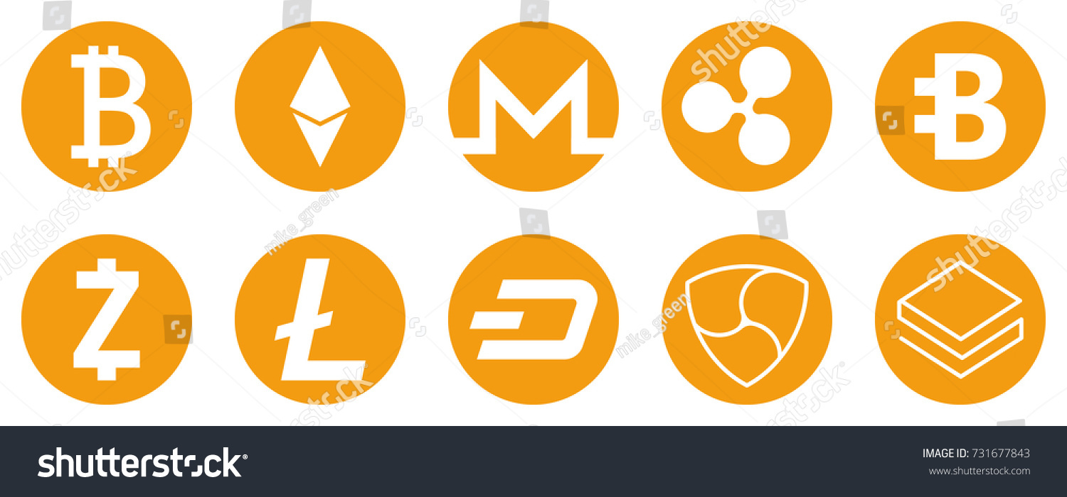 Cryptocurrency icons set internet money symbols stock vector cryptocurrency icons set for internet money symbols for using in web projects or mobile applications buycottarizona Gallery