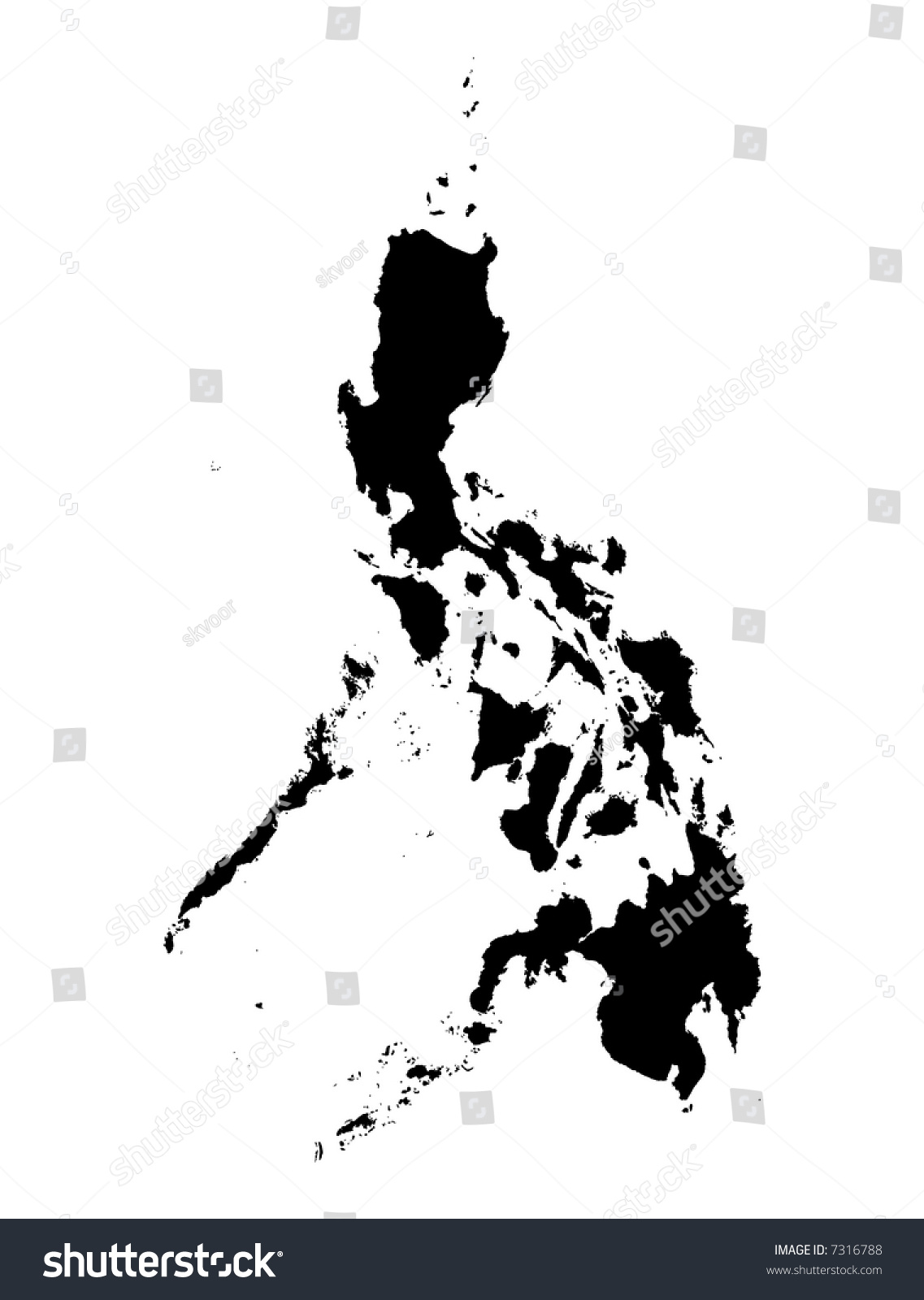 philippine map clipart black and white - photo #6