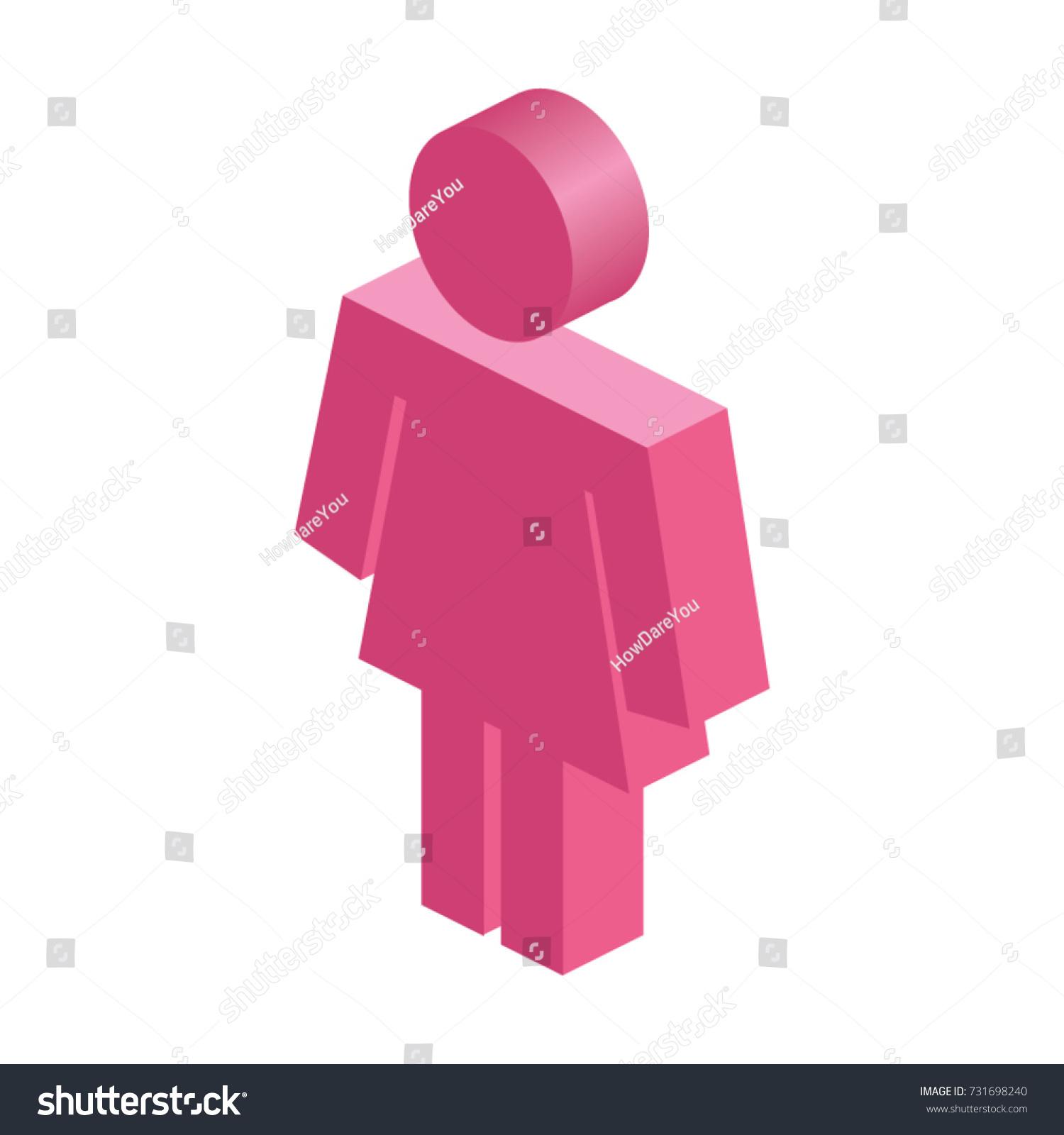 Isometric Female Symbol Stock Vector Royalty Free 731698240