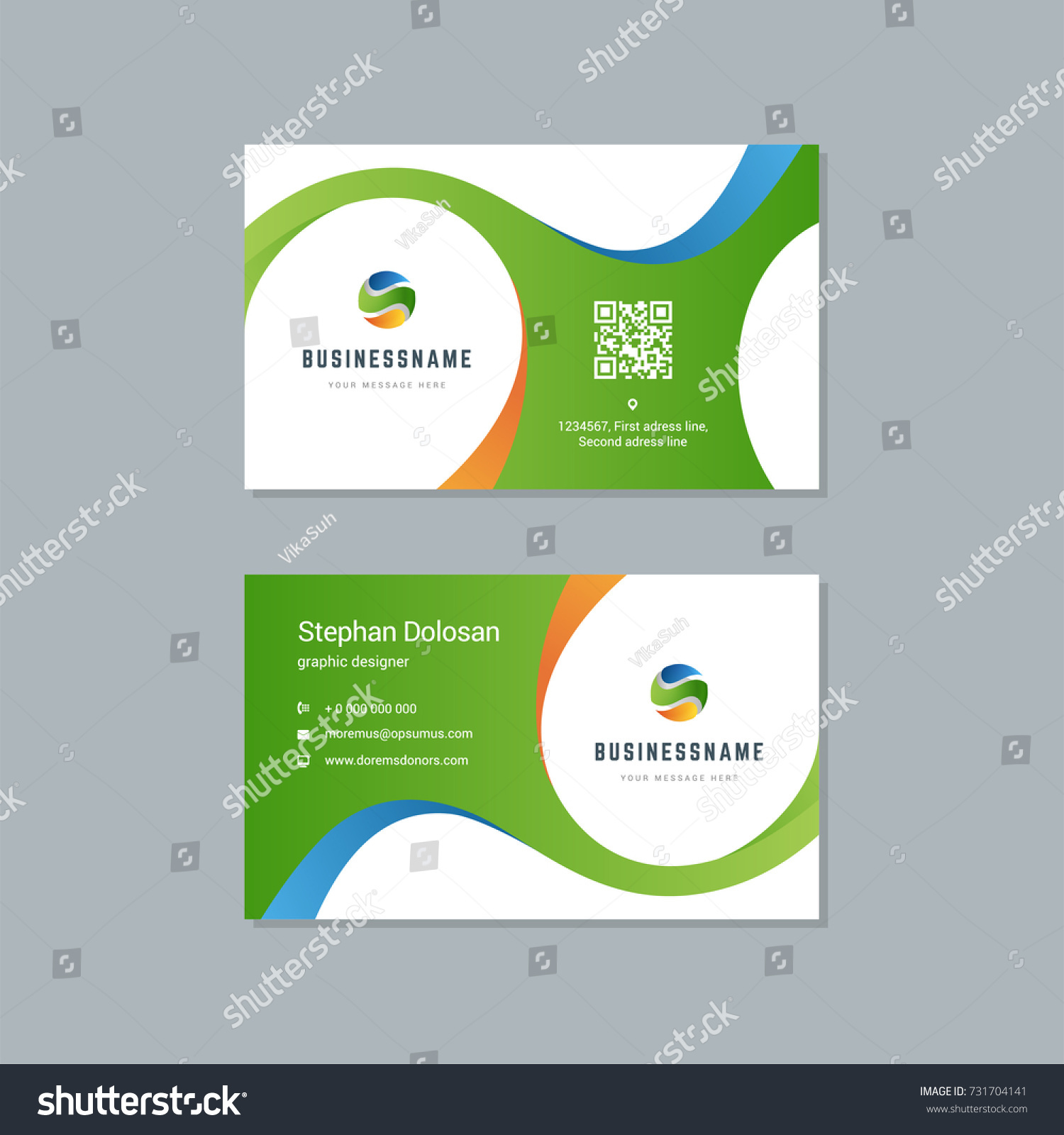 business card design trendy colorful template stock vector hd
