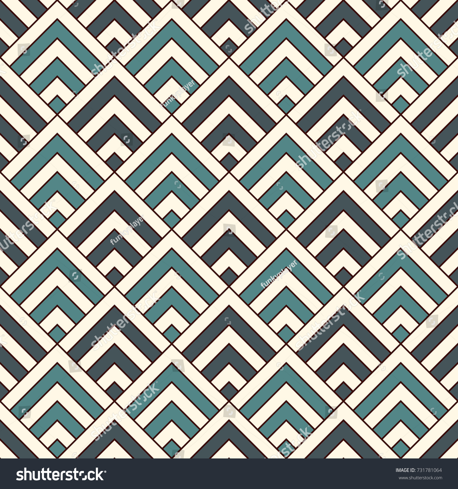 Repeated Chevrons Abstract Wallpaper Asian Traditional 731781064