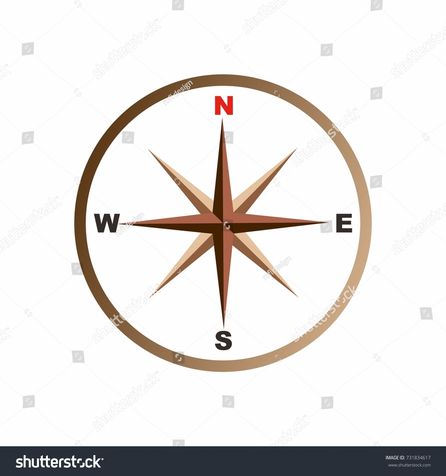 Compass map north south east west stock vector 731834617 compass for map north south east west biocorpaavc Image collections