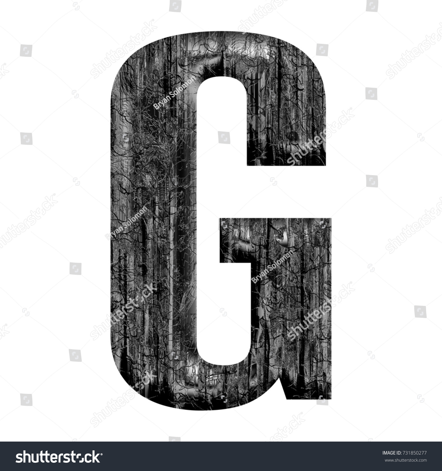 block format business letter example%0A Weathered silver metal uppercase or capital letter G in a  D illustration  with a dark gray