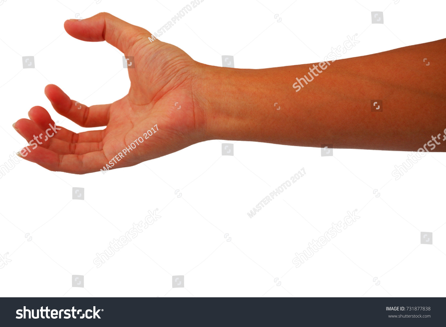 Lean Hand Reach Out Grab Something Stock Photo (Edit Now