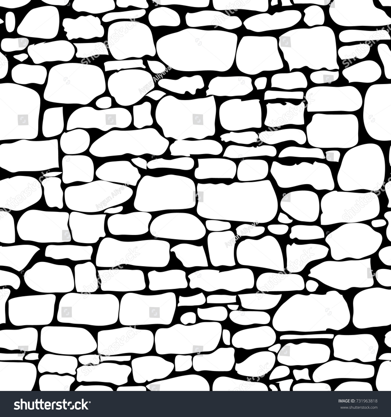 stones seamless pattern vector rock stone stock vector 731963818 rh shutterstock com brick stone wall clipart clipart stone wall background
