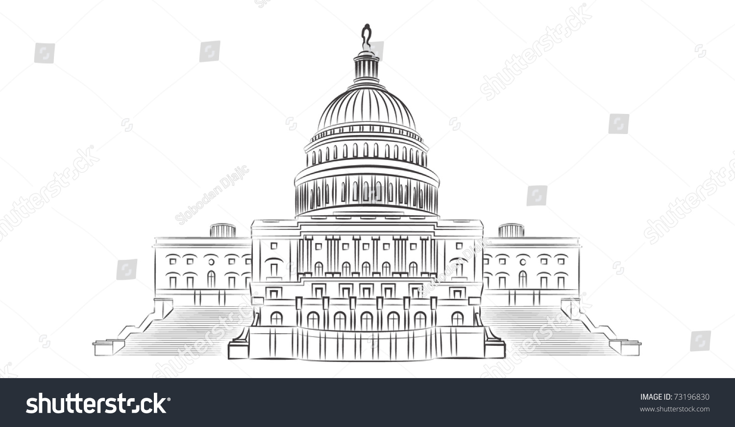 simple capitol building coloring pages - photo#21