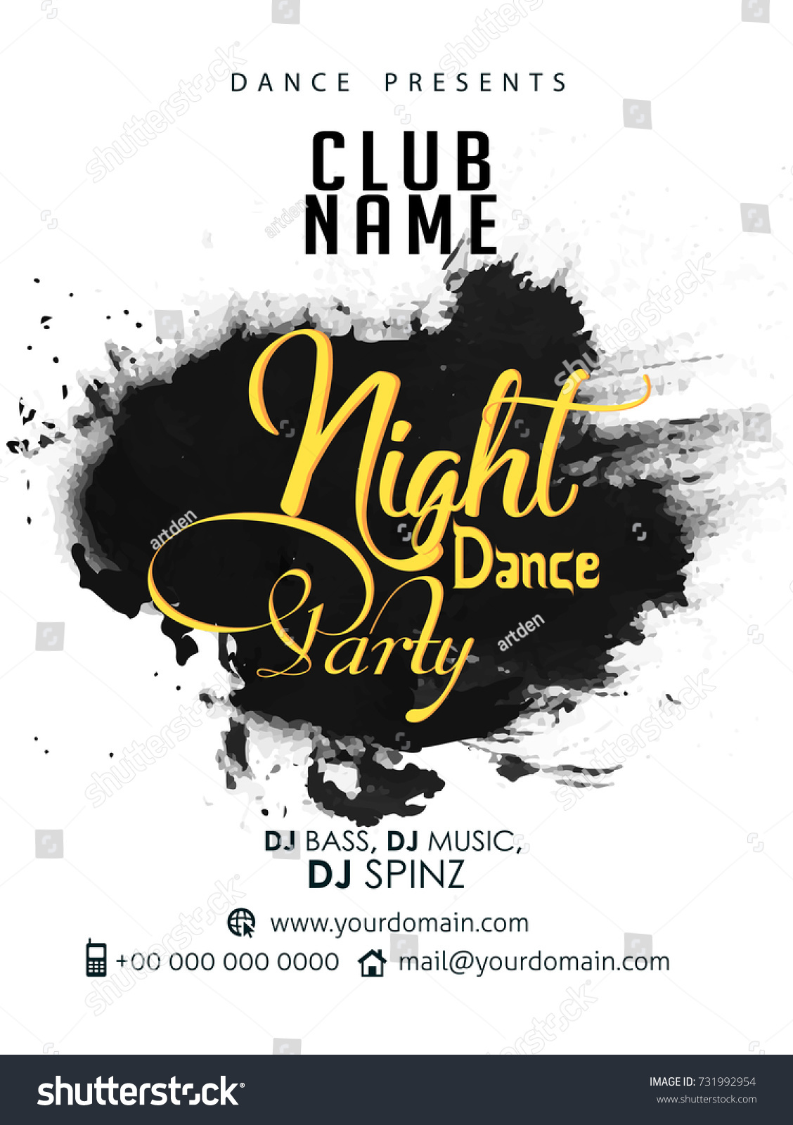 dance party flyers