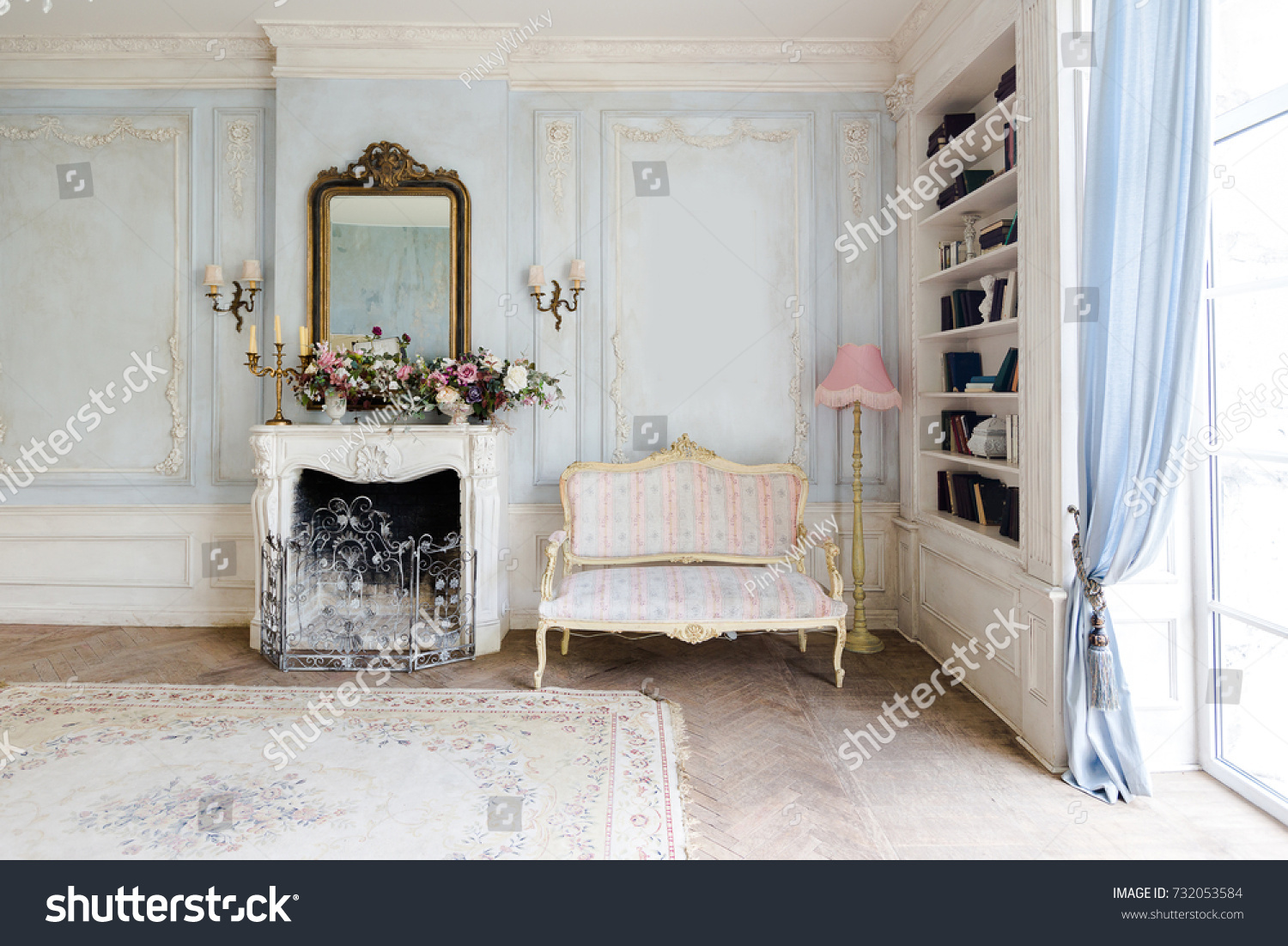 Cozy Interior Living Room Chic Beautiful Stock Photo (Royalty Free ...