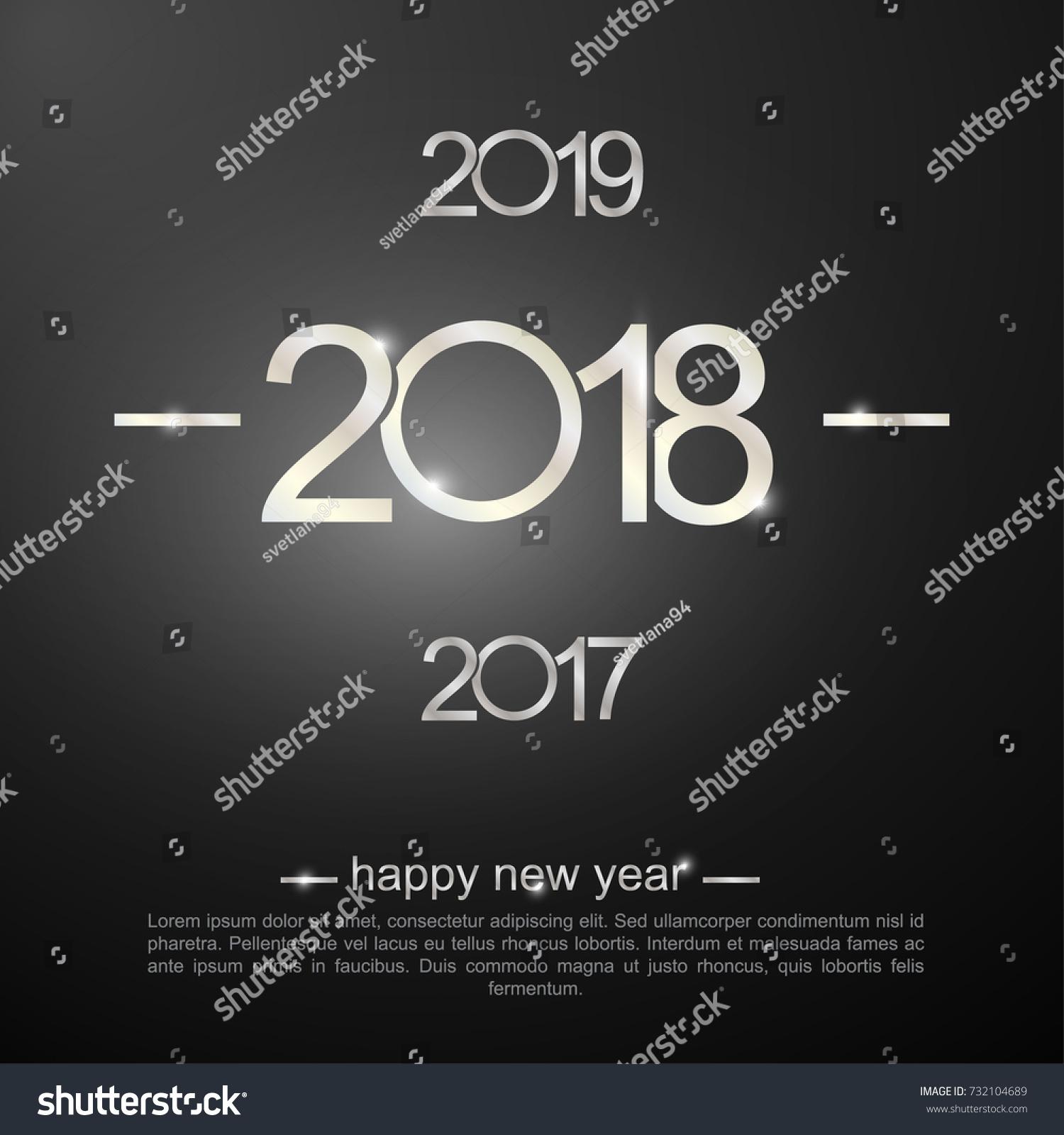 Happy New Year 2018 2017 2019 Stock Vector 732104689 - Shutterstock