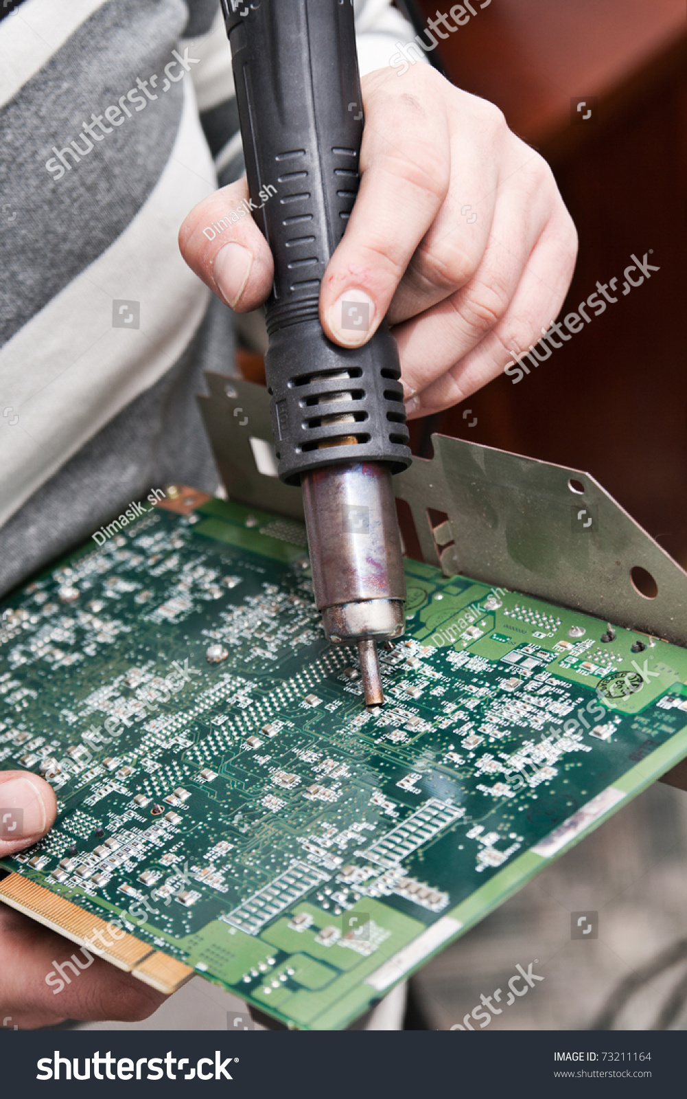 View Circuit Board Being Repaired Stock Photo Edit Now 73211164 Cutting Of A