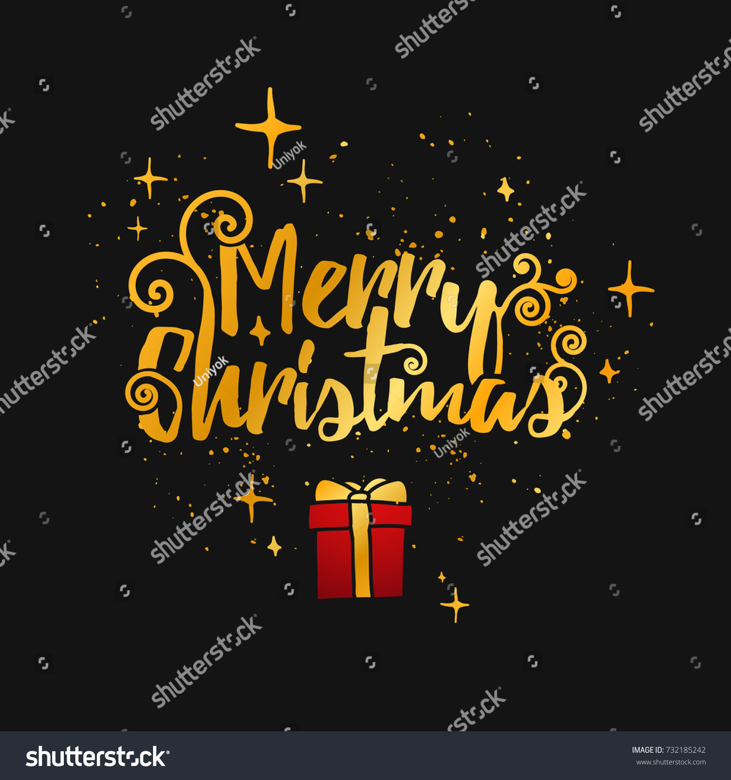 Template Designs Merry Christmas Cards Modern Stock Illustration ...