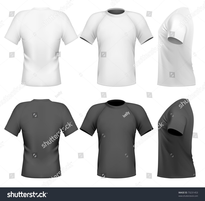 Shirt design illustrator template - Vector Illustration Men S T Shirt Design Template