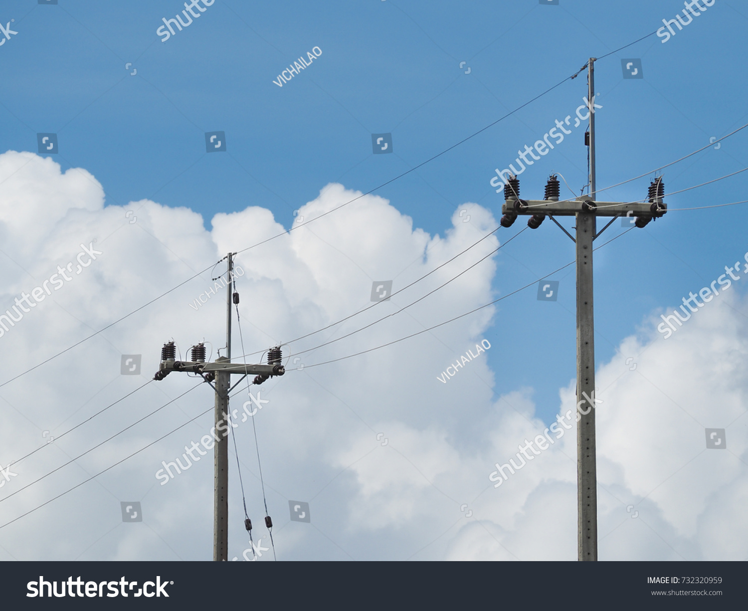 Electric Pillar With Transformer In The Network Outdoor Electrical Wiring Id 732320959