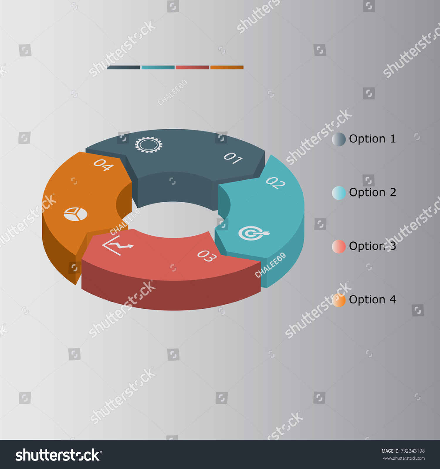 3 d infographics diagram pie chart on stock vector 2018 732343198 3d infographics diagram pie chart on isolated background isometric pie chart donut ccuart Choice Image