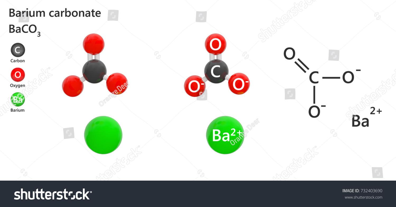 Barium Carbonate Formula Ba Co 3 C Ba O 3 Known Stock Illustration