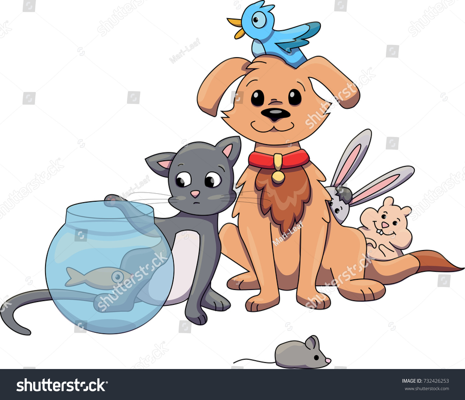 group pets pet shop sitting together stock vector 732426253 rh shutterstock com Pet Clip Art Black and White Pet Grooming Clip Art