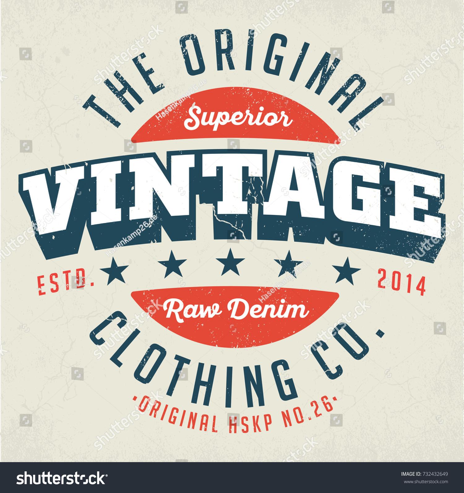 original vintage clothing co design stock vector