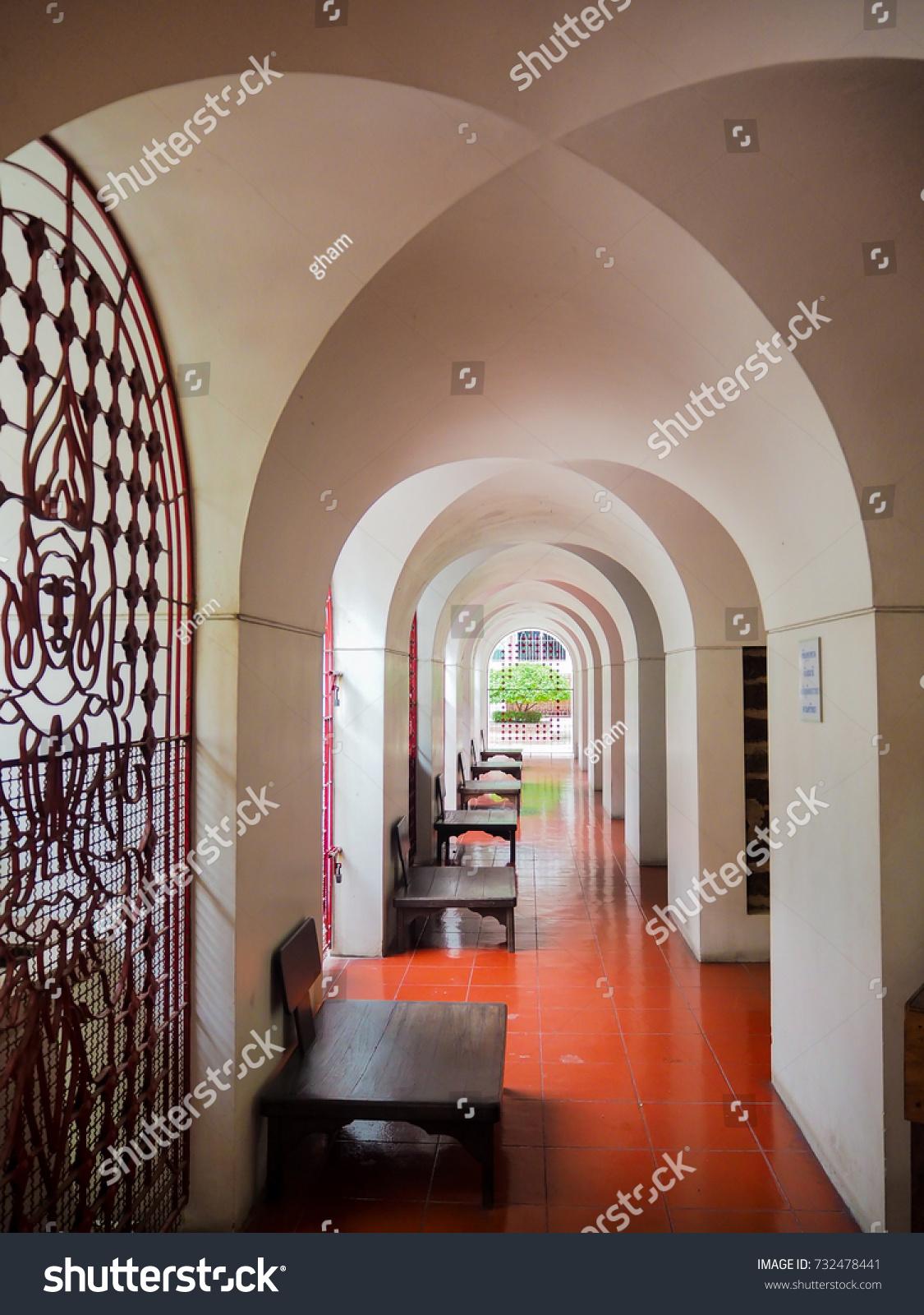 Corridor architecture temple archceilingceiling archshadowrhythm