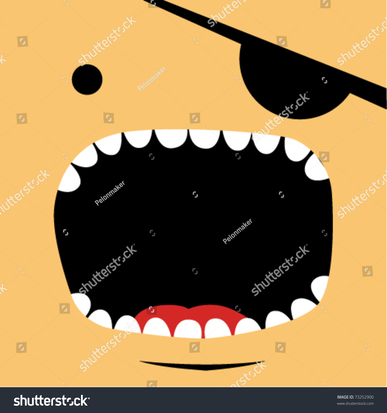 Pirate face vector - photo#19