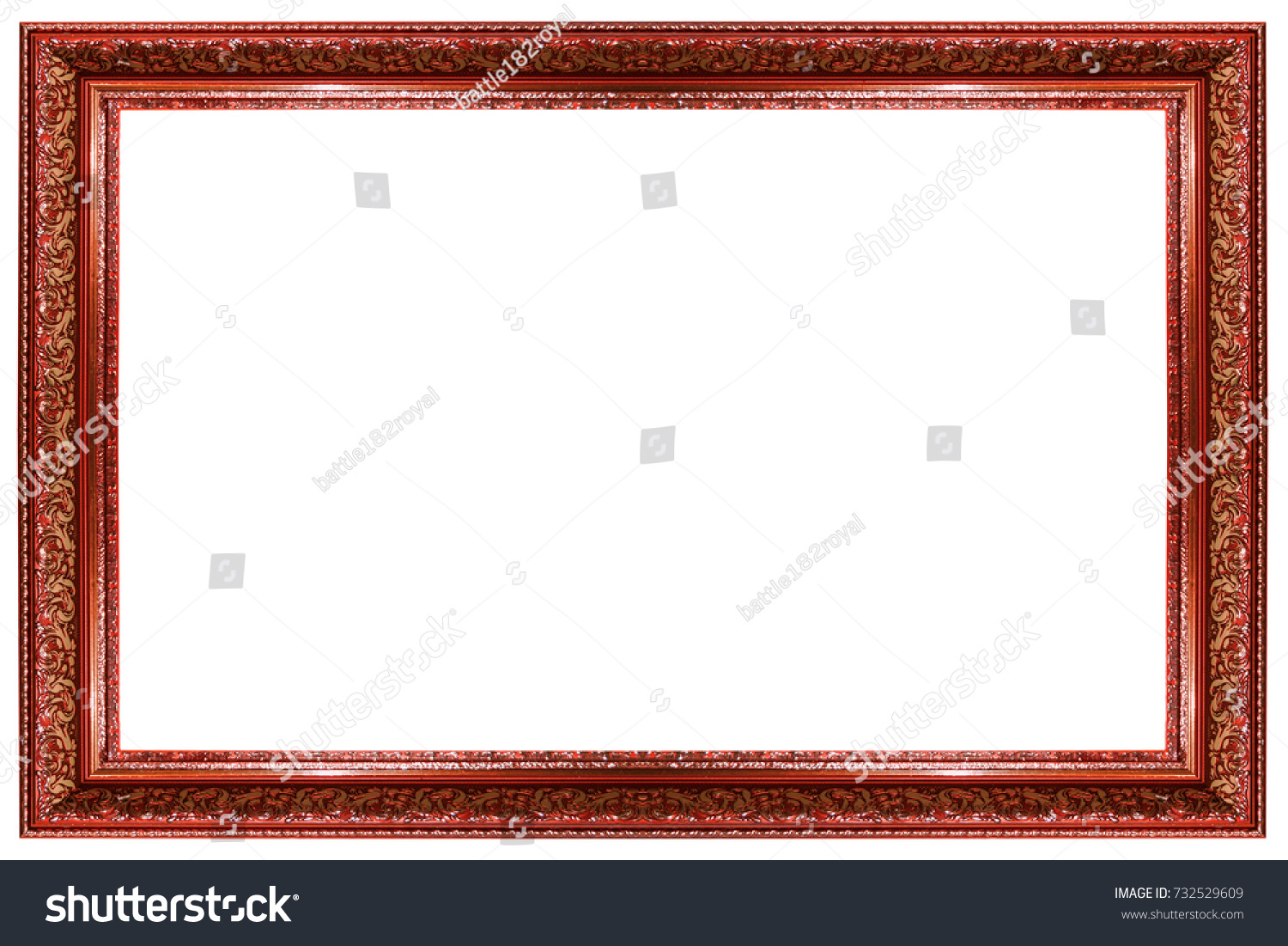 Blank frame on white background stock photo 732529609 shutterstock blank frame on a white background jeuxipadfo Gallery