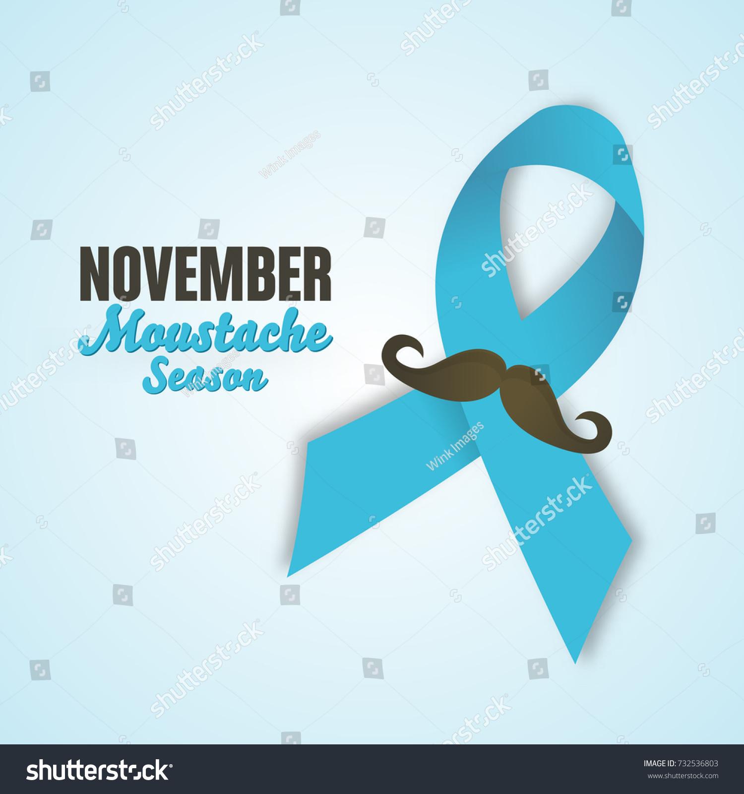 november prostate cancer awareness month design stock Cancer Ribbon Silhouette Ribbon Vector Black