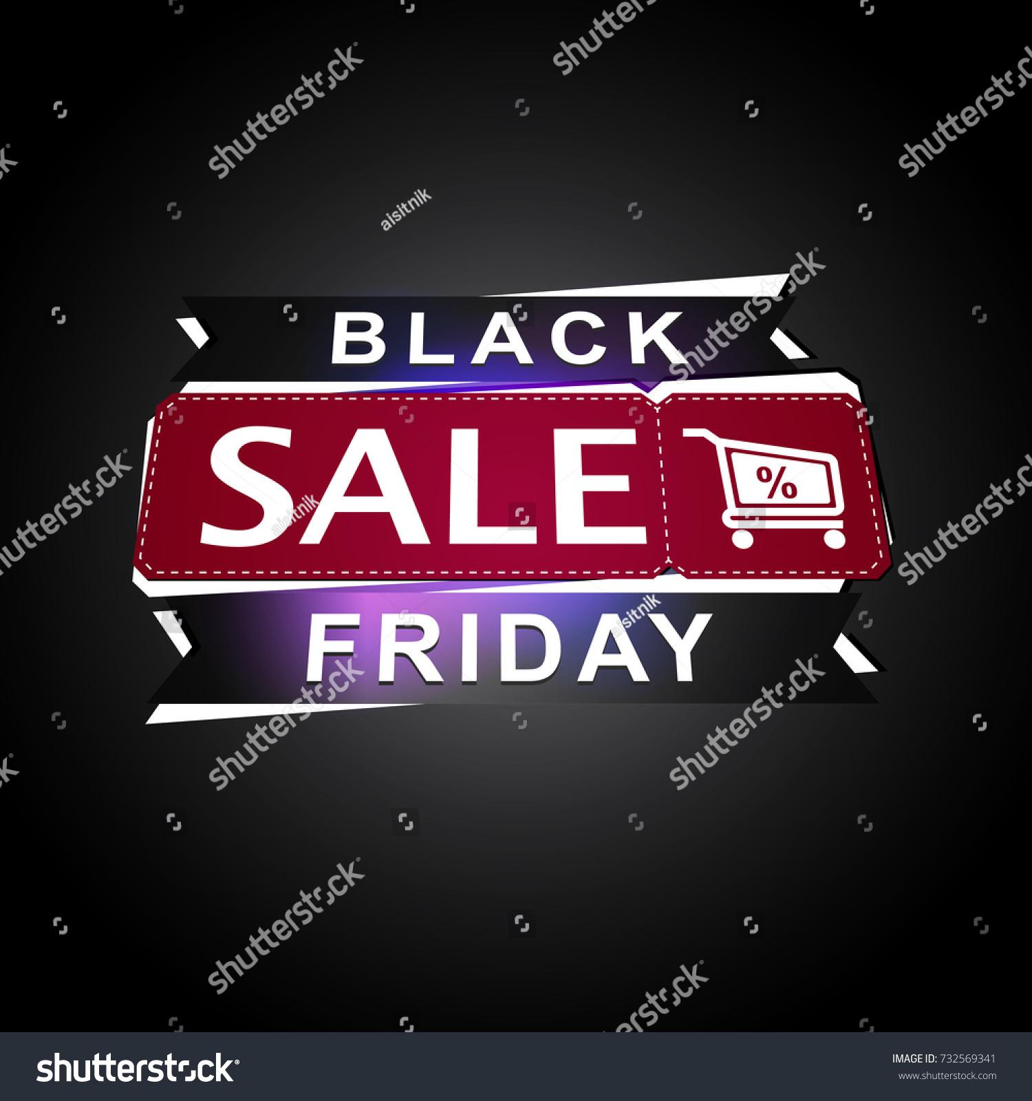 Large Letters For Sale Impressive Black Friday Banner Word Sale Large Stock Vector 732569341 2018