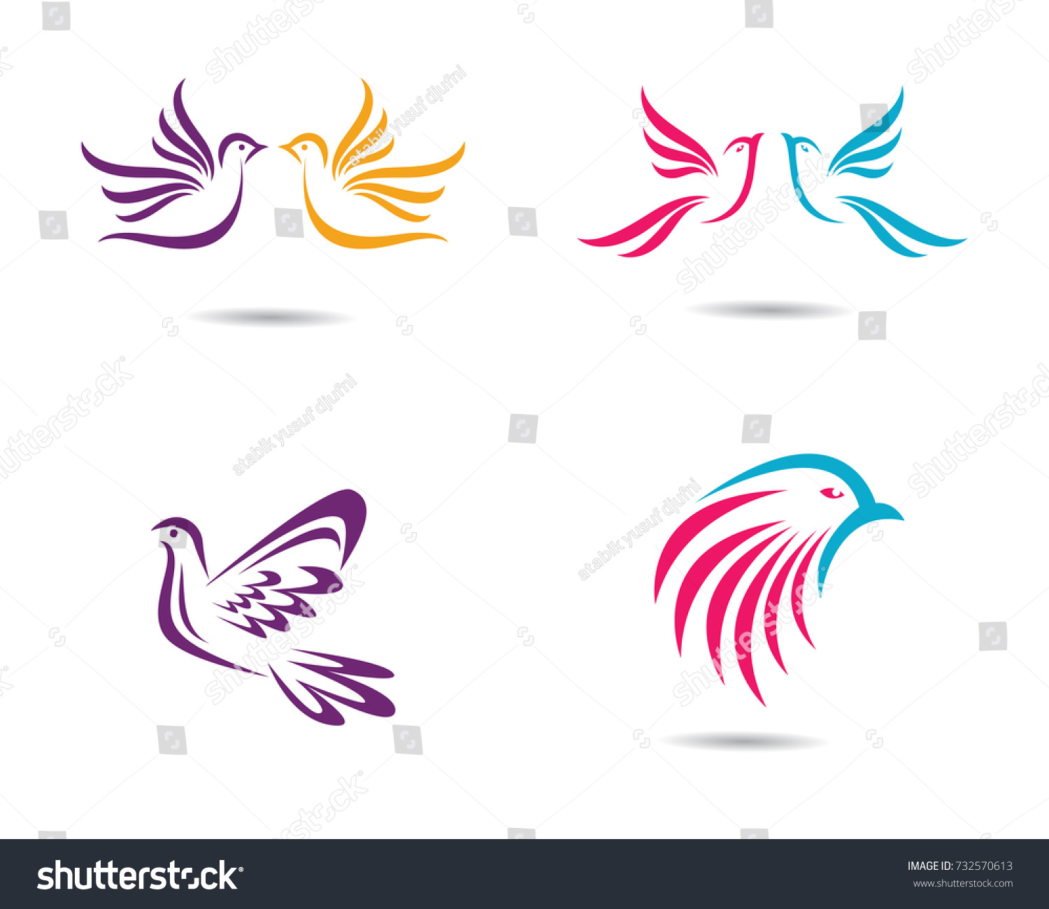 Dove Logo Template Stock Vector (Royalty Free) 732570613 - Shutterstock