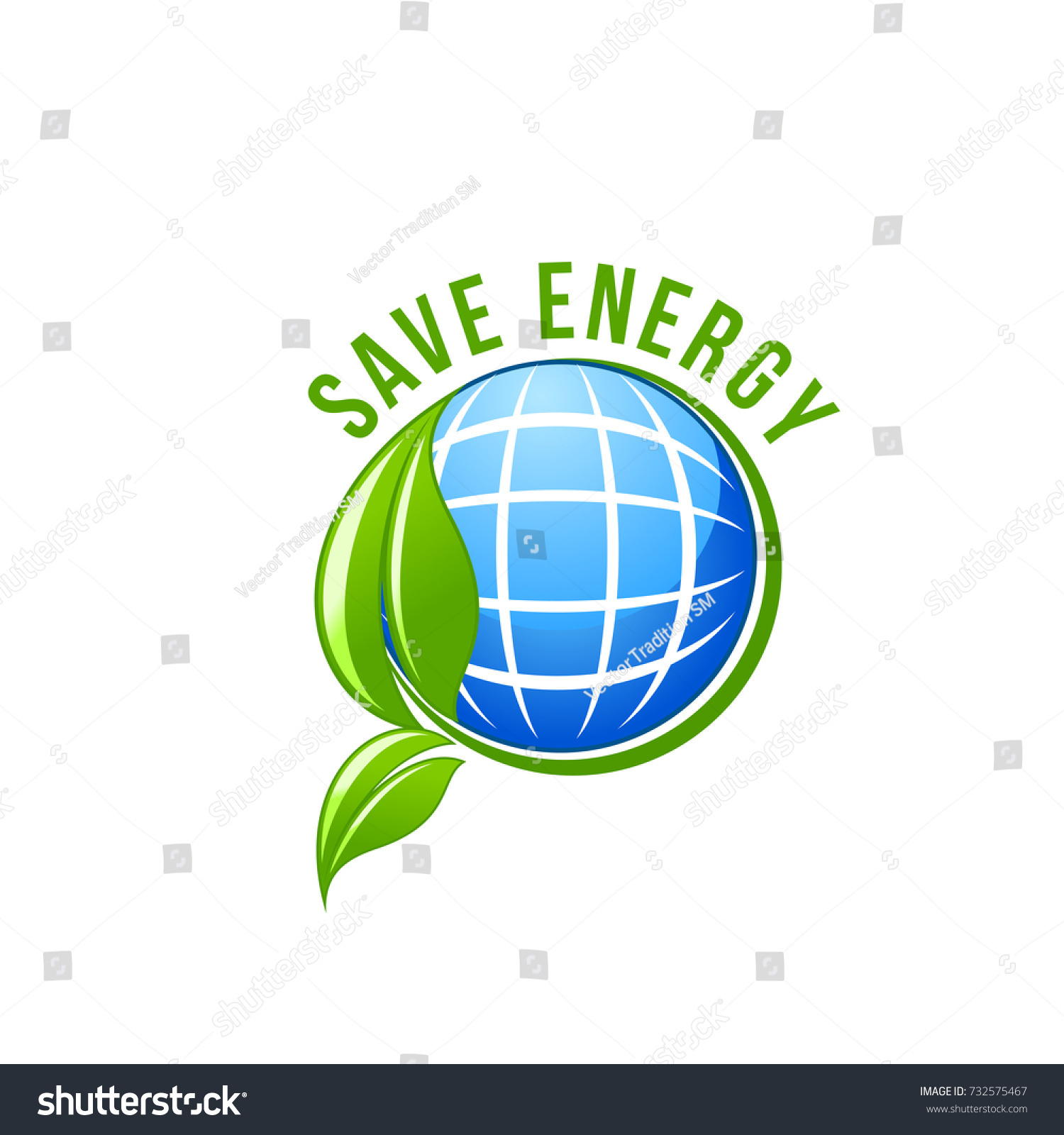 Save energy green eco power symbol stock vector 732575467 save energy and green eco power symbol of solar battery in earth and green leaf for biocorpaavc Gallery