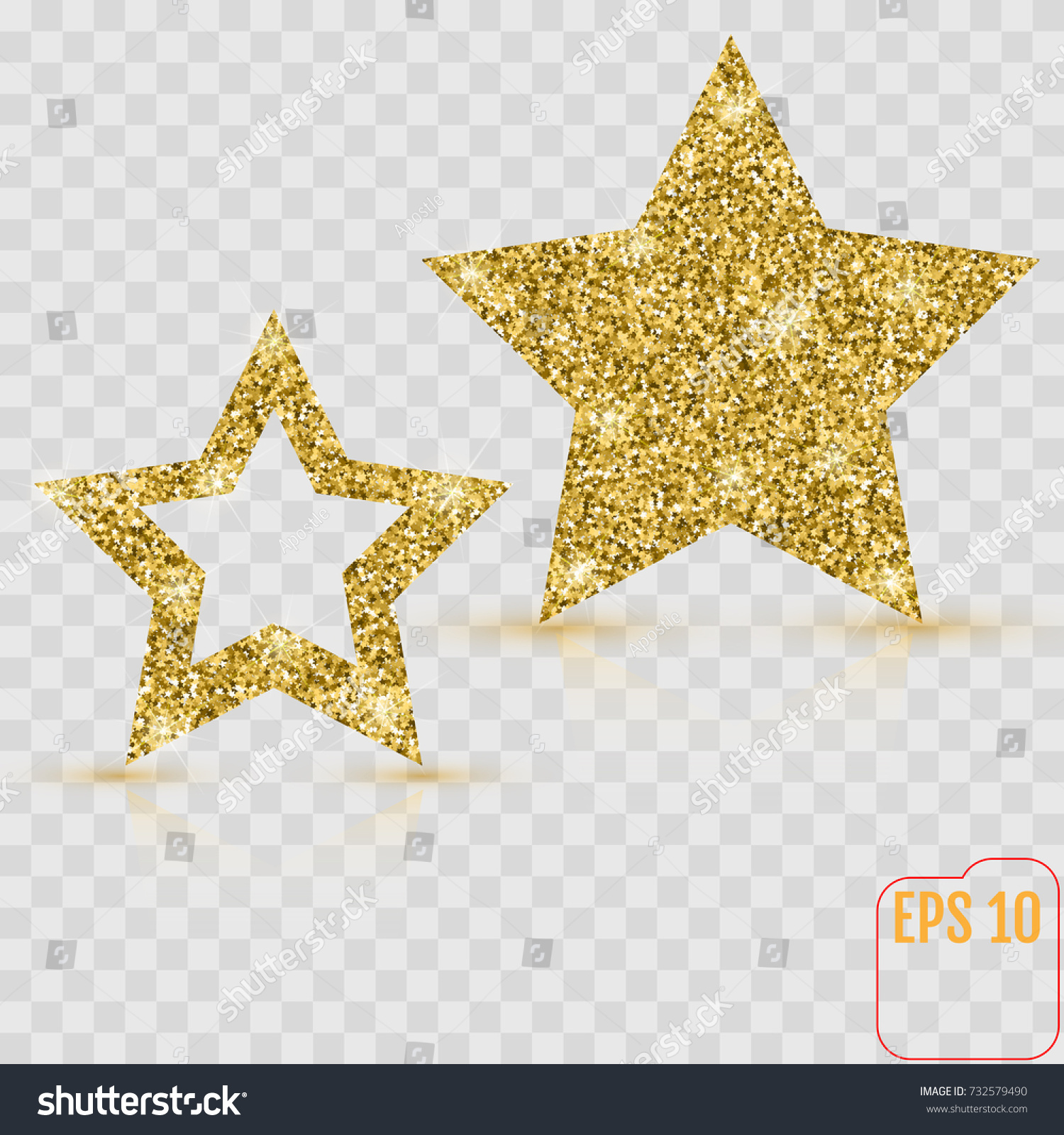 Gold star vector banner gold glitter stock vector 732579490 gold star vector banner gold glitter template card vip exclusive alramifo Image collections