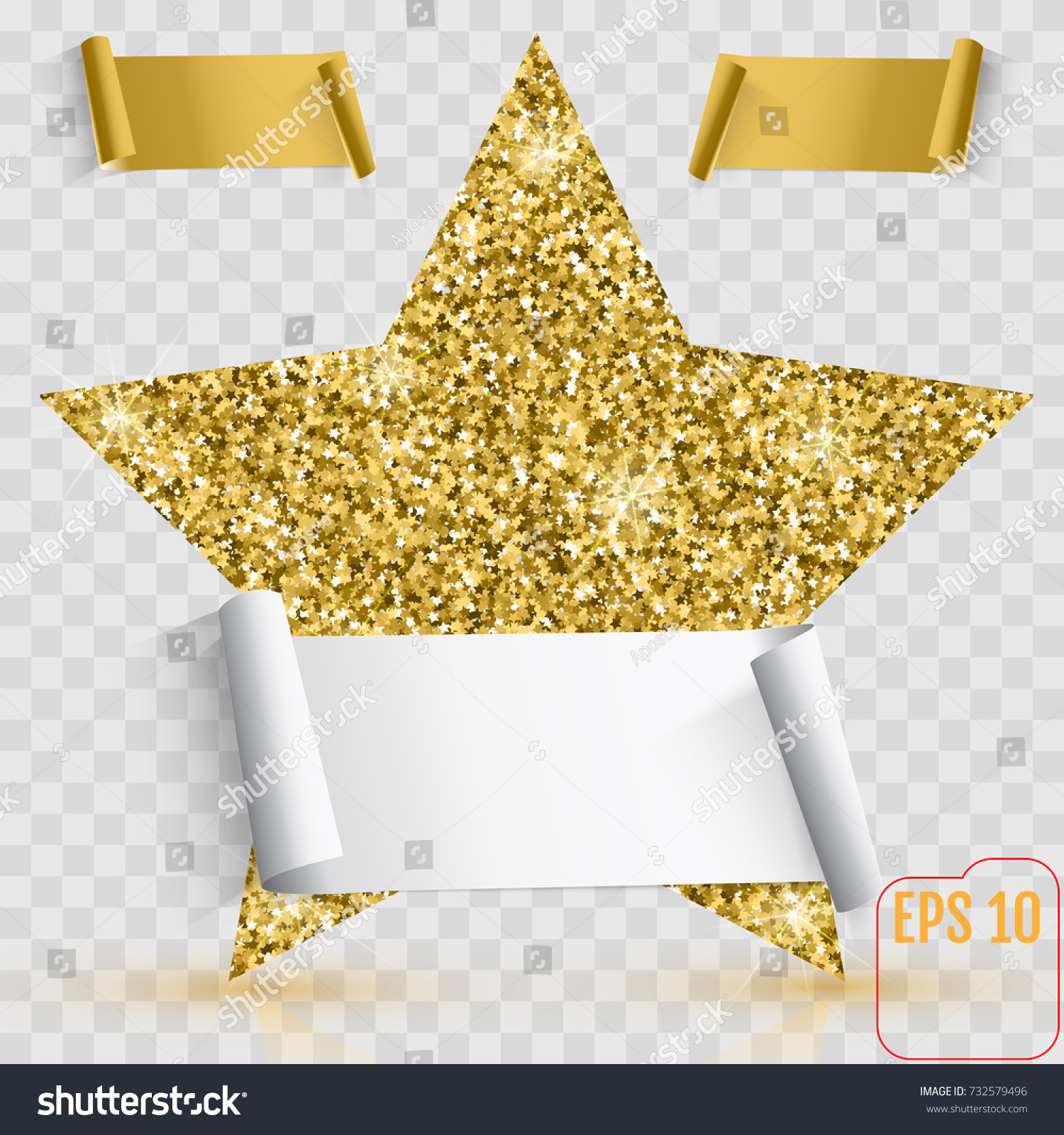 Gold star vector banner gold glitter stock vector 732579496 gold star vector banner gold glitter template card vip exclusive alramifo Image collections
