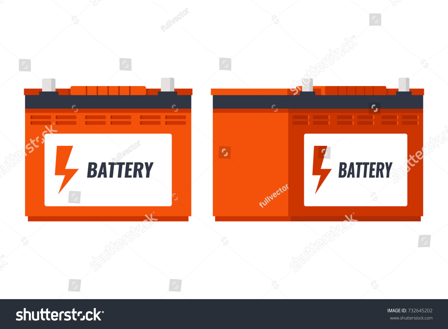 Car Battery Icon Isolated On White Stock Vector Royalty Free Diagram Background Accumulator Energy Power And Electricity