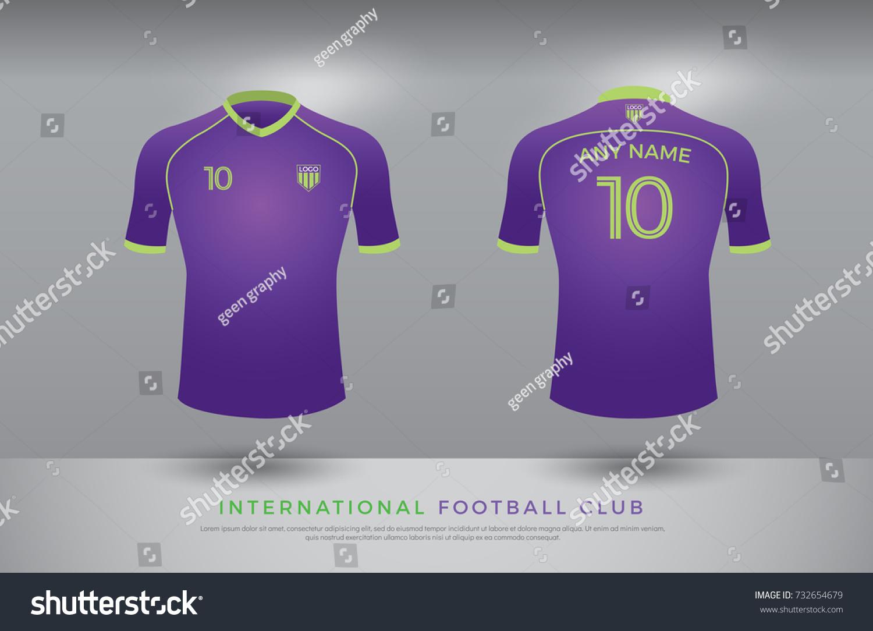 Soccer Tshirt Design Uniform Set Soccer Stock Vector 732654679 ...