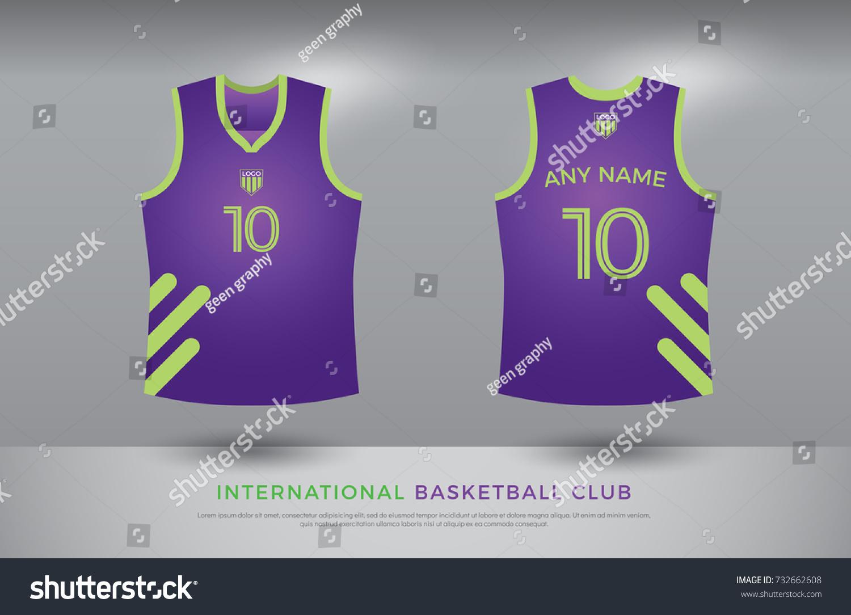 Basketball Tshirt Design Uniform Set Kit Stock Vector HD (Royalty ...