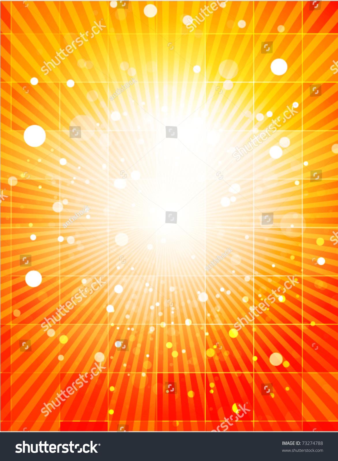 Nature Orange Light Background Glass Rectangles Stock Vector