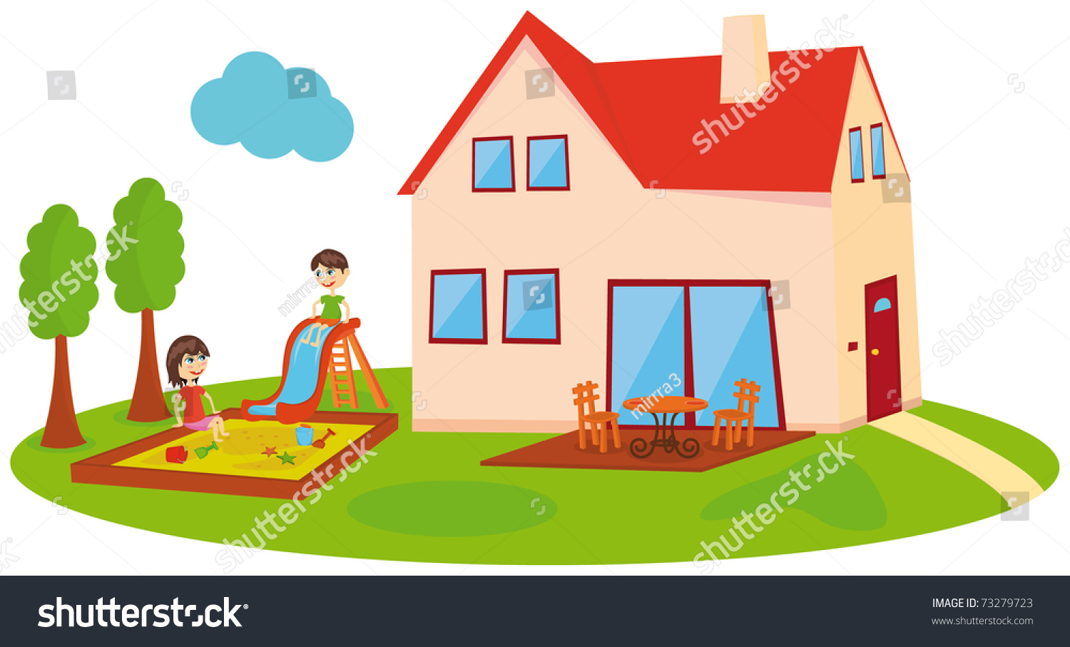 The house for children 28 images family house freehand for House pics for kids