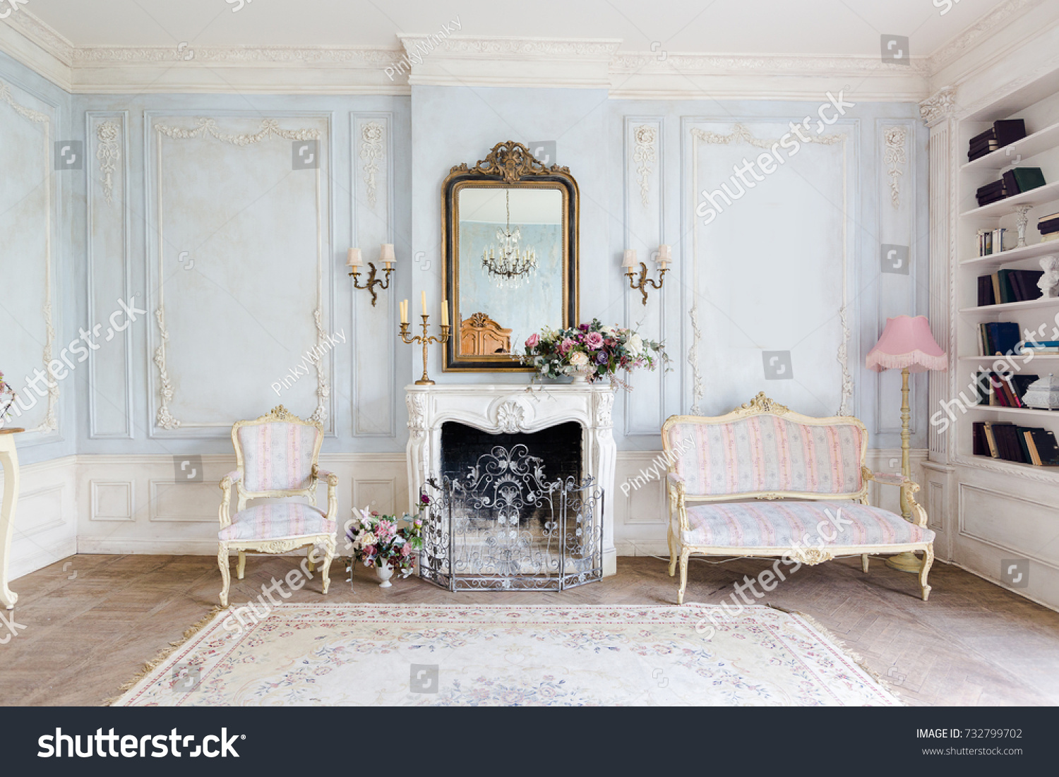 Cozy Interior Living Room Chic Beautiful Stock Photo & Image ...