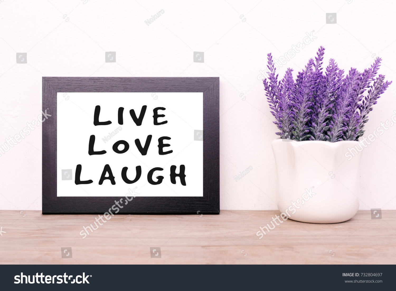 Live Love Laugh Quotes Inspirational Quotes Live Love Laugh Faded Stock Photo 732804697